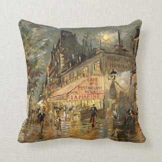 Constantin Korovin: Cafe La Marine, Paris Cushion