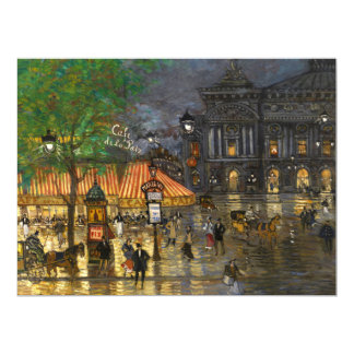 Constantin Korovin: Grand Opera, Paris 17 Cm X 22 Cm Invitation Card