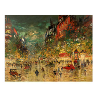 Constantin Korovin: Paris at Night Postcard