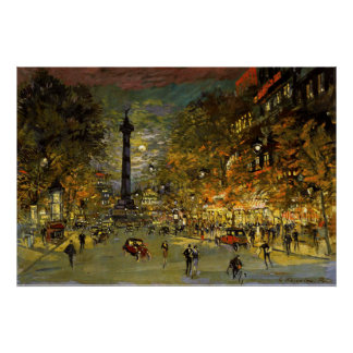 Constantin Korovin: The Square of Bastille, Paris Poster