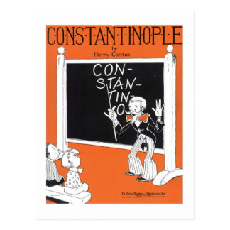 Constantinople Vintage Songbook Cover Postcard