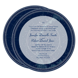 Constellation Night Sky Wedding Card