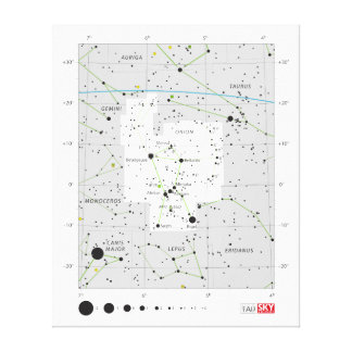 Constellation Orion The Hunter Chart Canvas Prints