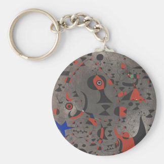 Constellation Toward the Rainbow Basic Round Button Key Ring