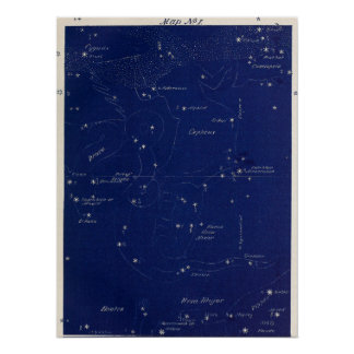 Constellations Cepheus and Ursa Minor Poster