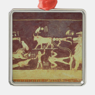 Constellations, from the funerary chamber Silver-Colored square decoration
