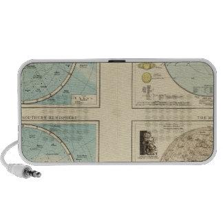 Constellations, Solar System, Moon Laptop Speakers