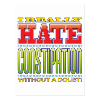 Constipation Hate Postcard