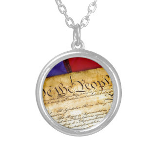 Constitution 4th Of July July 4th Independence Silver Plated Necklace