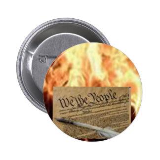Constitution 6 Cm Round Badge