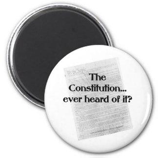 Constitution? heard of it? 6 cm round magnet