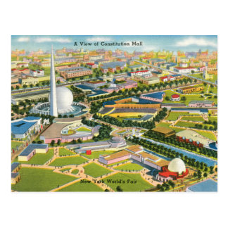 Constitution Mall at the World's Fair Postcard