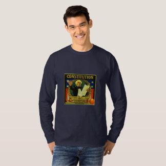 Constitution Of U.S. Orange Crate Art T-Shirt