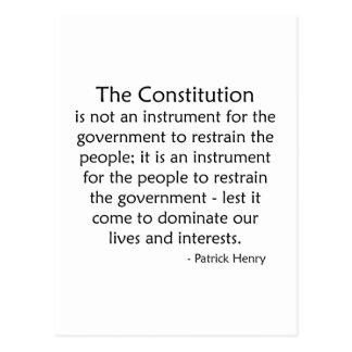 Constitution Postcard