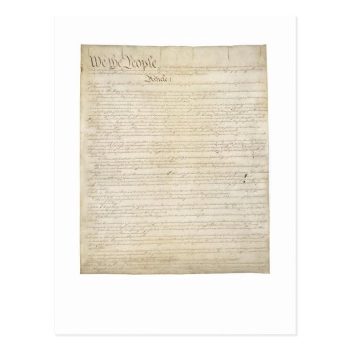 Constitution - Preamble - Article I Post Cards