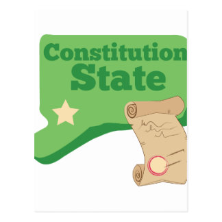 Constitution State Postcard