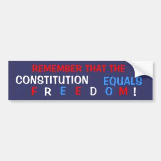 Constitutional Freedom Bumper Sticker