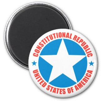 Constitutional Republic 6 Cm Round Magnet