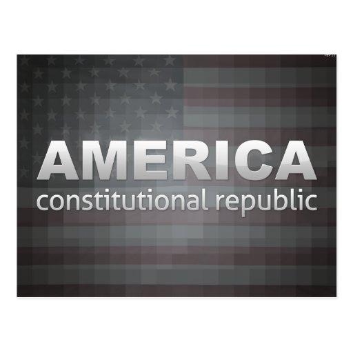 Constitutional Republic Postcard