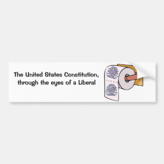 Constitutionall Recycling Bumper Sticker