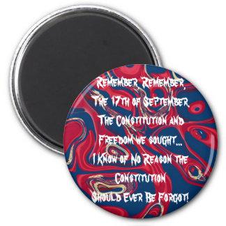 Constitutionist 6 Cm Round Magnet