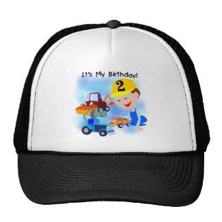 Construction 2nd Birthday Tshirts and Gifts Cap