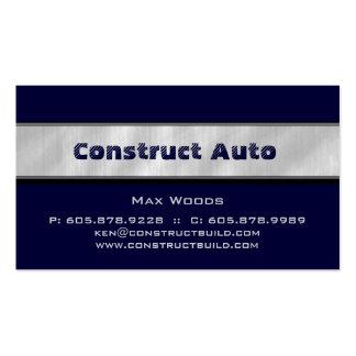 Construction Automotive Metal Business Card