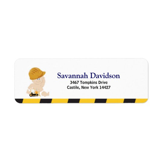 Construction Baby Custom Address Label (30)