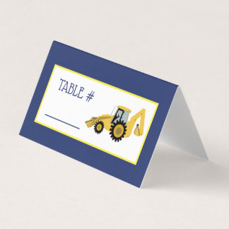 Construction Baby Shower Table Tent Place Cards