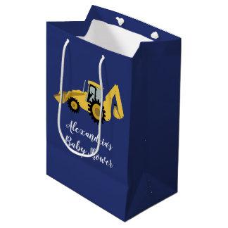 Construction Backhoe Baby Shower Gift Bag
