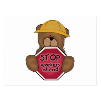 Construction Bear T-shirts and Gifts Postcard