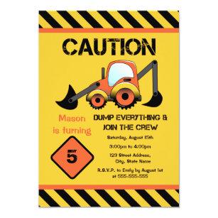 construction birthday invitations zazzle com au