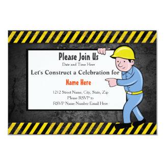 Construction Birthday Party Invite