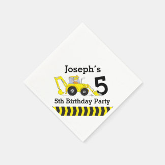 Construction birthday party kids paper napkins disposable napkin