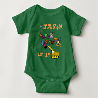 Construction Birthday wish Baby Bodysuit