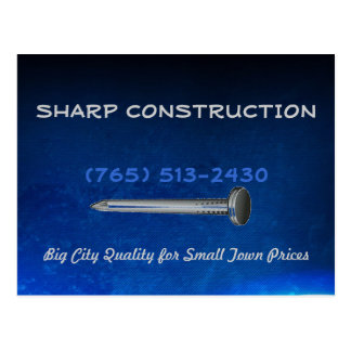 Construction Blue Business Postcard