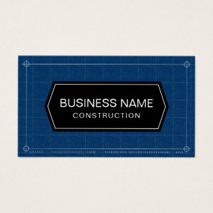 Blueprint of a business cards business card printing zazzle construction blueprint professional business card reheart Gallery