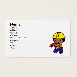 Construction Boy Business Card