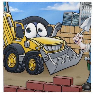 Construction Building Site Scene Napkin