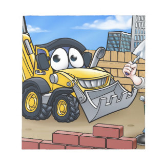 Construction Building Site Scene Notepad
