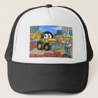 Construction Building Site Scene Trucker Hat
