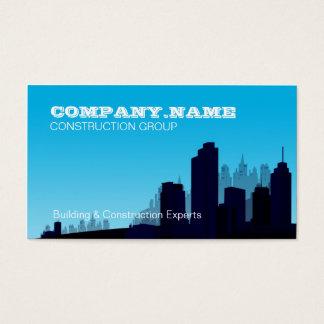 Construction Business Blue Skyline Card