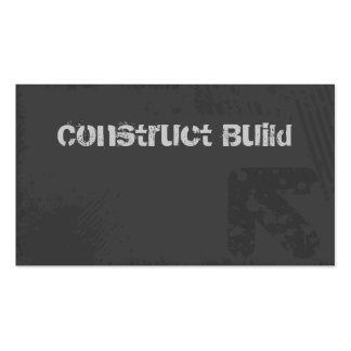 Construction Business Card Grunge grey