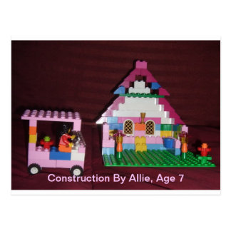 Construction By Allie, Age 7 Postcard
