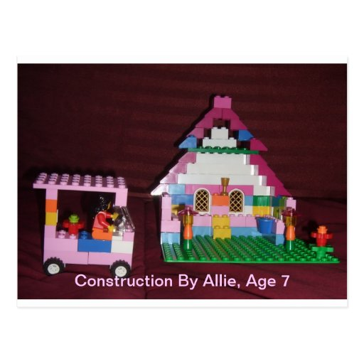 Construction By Allie, Age 7 Postcards