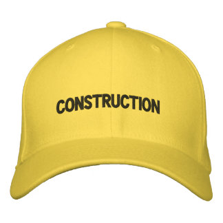 CONSTRUCTION CAP EMBROIDERED HAT