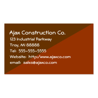 Construction Card For Builder Contractor Business Card