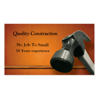 Construction Card Pack Of Standard Business Cards