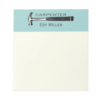 Construction Carpenter Handyman Notepad