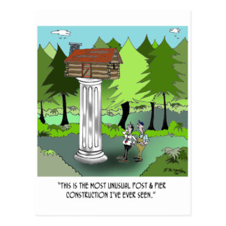 Construction Cartoon 6369 Postcard